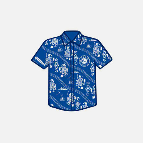 Collared shirt with custom printing